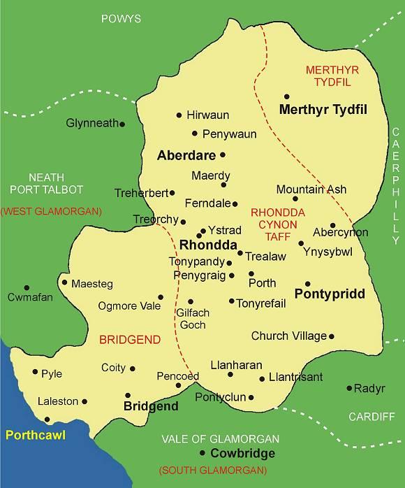 In Abercynon Rhondda Cynon Taf: Bridgend, Rhondda Cynon Taff And Merthyr Tydfil Chartered