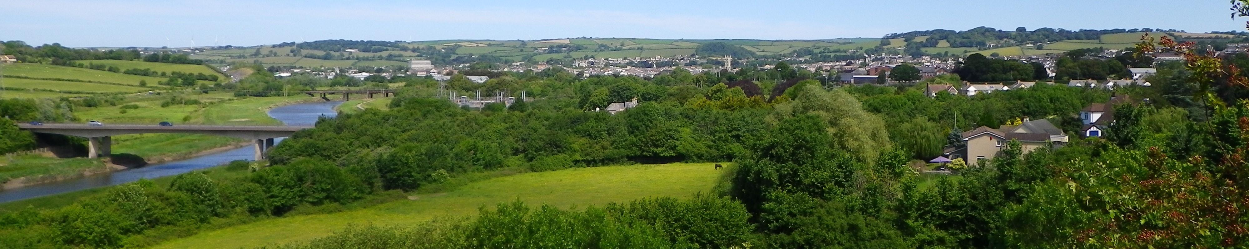 View overlooking Barnstaple, North Devon