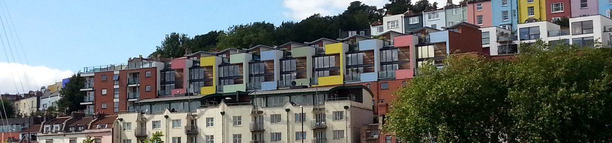 Colourful houses in Bristol illustrates Property Surveying Newsletter