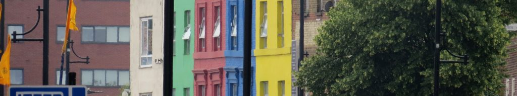 Happy painted houses