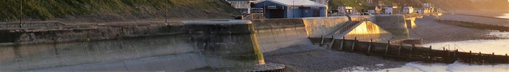 Impressive sea defences at Cromer in Norfolk