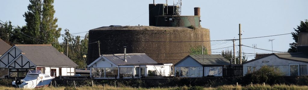 Martello Tower near Jaywick in Essex