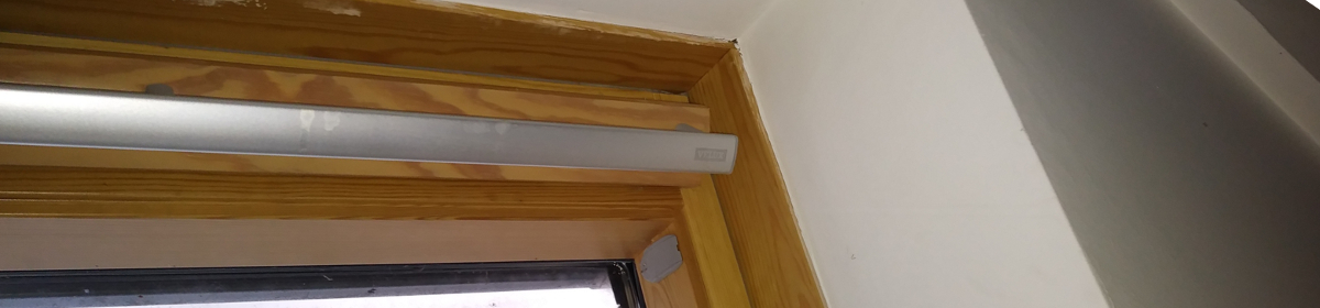 Velux window in bedroom of modern home