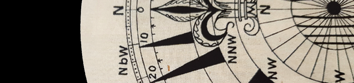photo of a compass bearing north illustrates Property Surveying Newsletter
