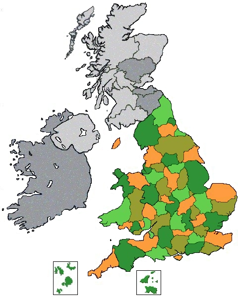 Clickable map of UK
