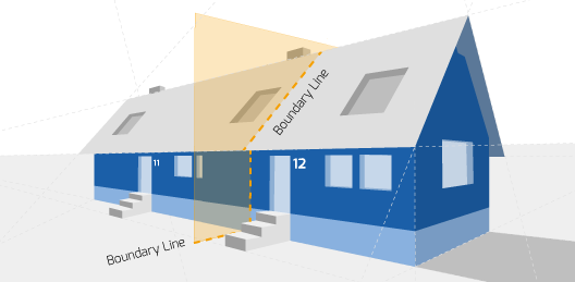 Right Surveyors Location Party Wall Diagram