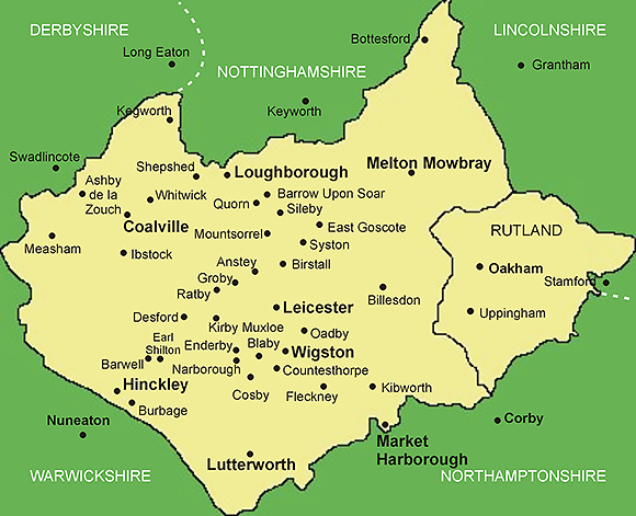Map Of Leicestershire Leicestershire Chartered Surveyors | Independent Chartered Surveyors Map Of Leicestershire