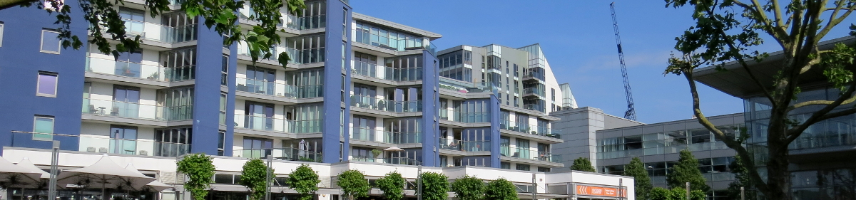 Image of New apartments at the new Riverside Quarter development, Wandsworth, London