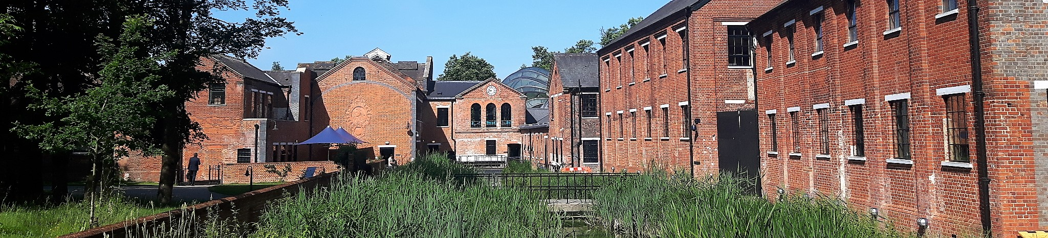The Bombay Sapphire Distillery buildings at Laverstoke near Whitchurch in Hampshire