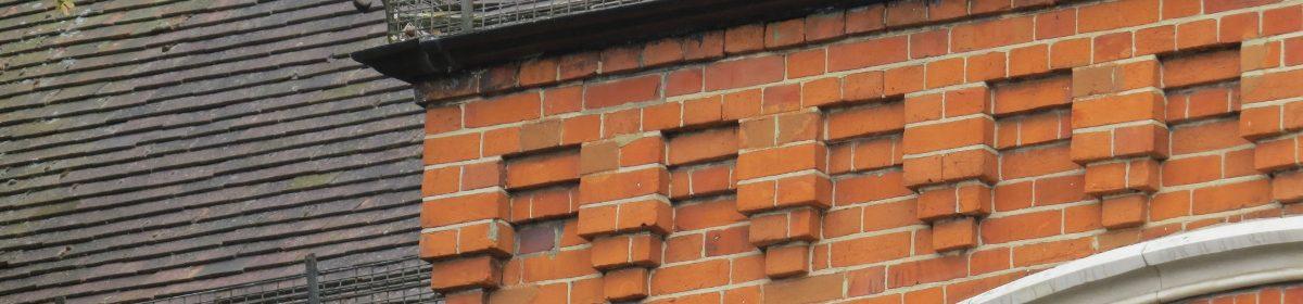 Brickwork decoration on property