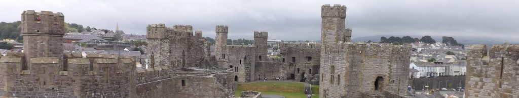 Magnificent Caernarfon Castle, just 35 miles from Gwrych Castle