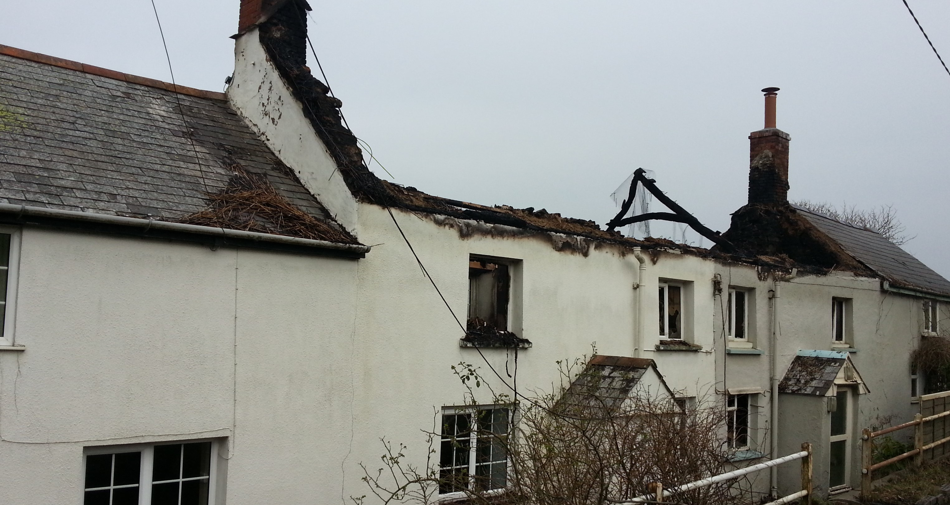 Devastating effects of fire damage on thatched property