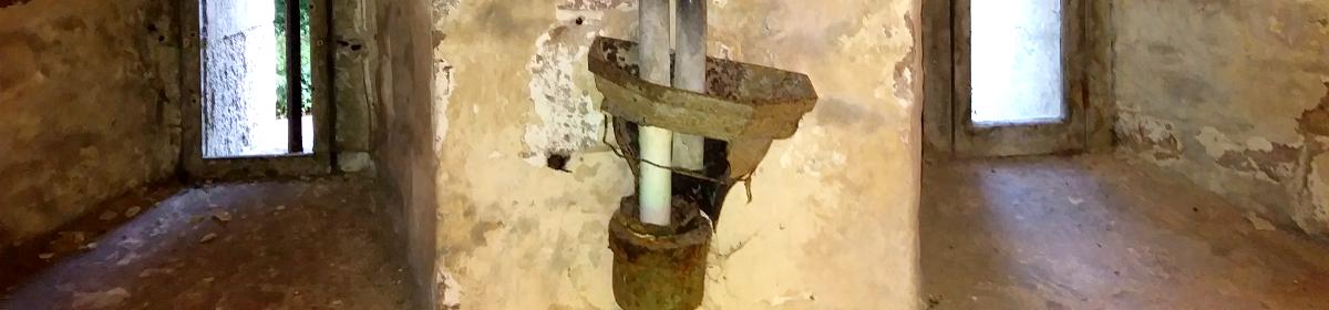 Plumbing at Dunster Castle, Somerset