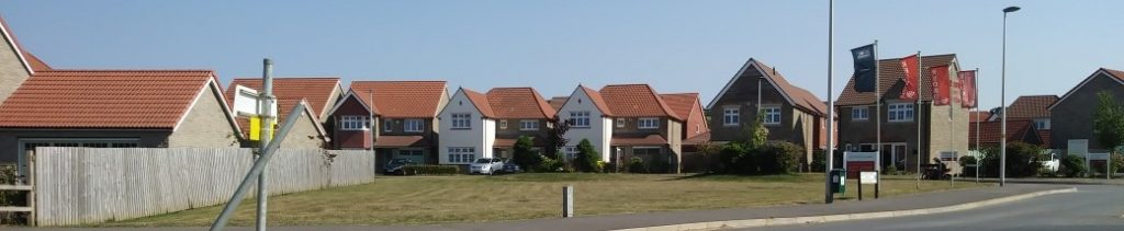 New homes built on a housing estate