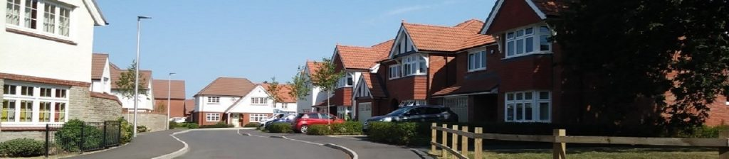 New houses on a housing estate