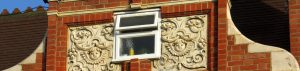 Beautiful historic building spoiled with the addition of a double glazed bathroom window