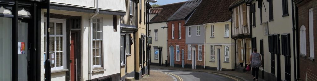Always get a survey when buying older property, like these homes in Wymondham, Norfolk