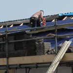 roof work on building