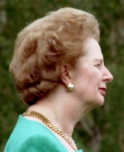 Mrs Thatcher in profile