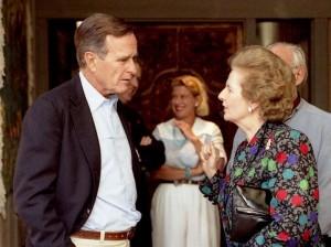 Thatcher and Bush snr