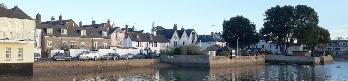 Image of properties overlooking the water at Topsham, Exeter, Devon
