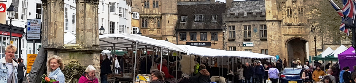 The market place in Wells, Somerset