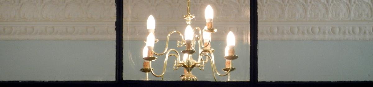 chandelier in apartment