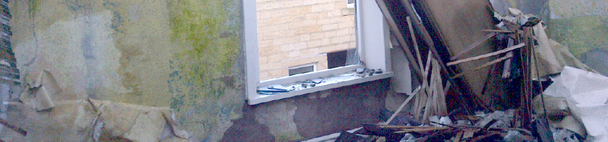 disused building survey roof collapse