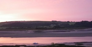 dylan laugharne-sunset turbine site