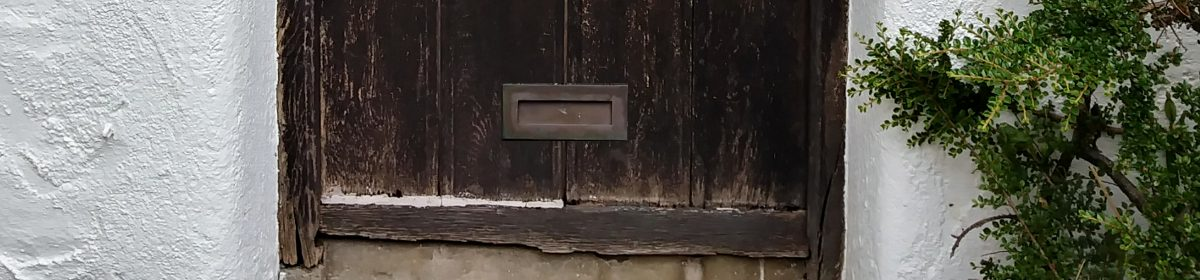 Front Door of House with Letterbox