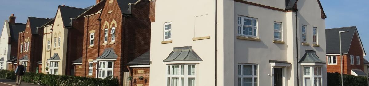modern house building across UK