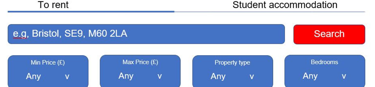 Property search box