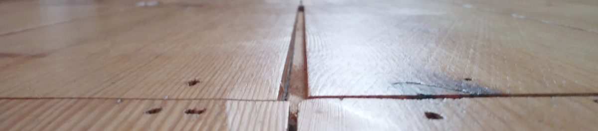 suspended wood flooring in the home