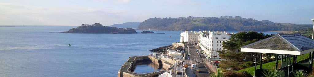 View from Plymouth to the Rame Peninsula in Cornwall