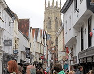 Commercial properties leading to York Minster