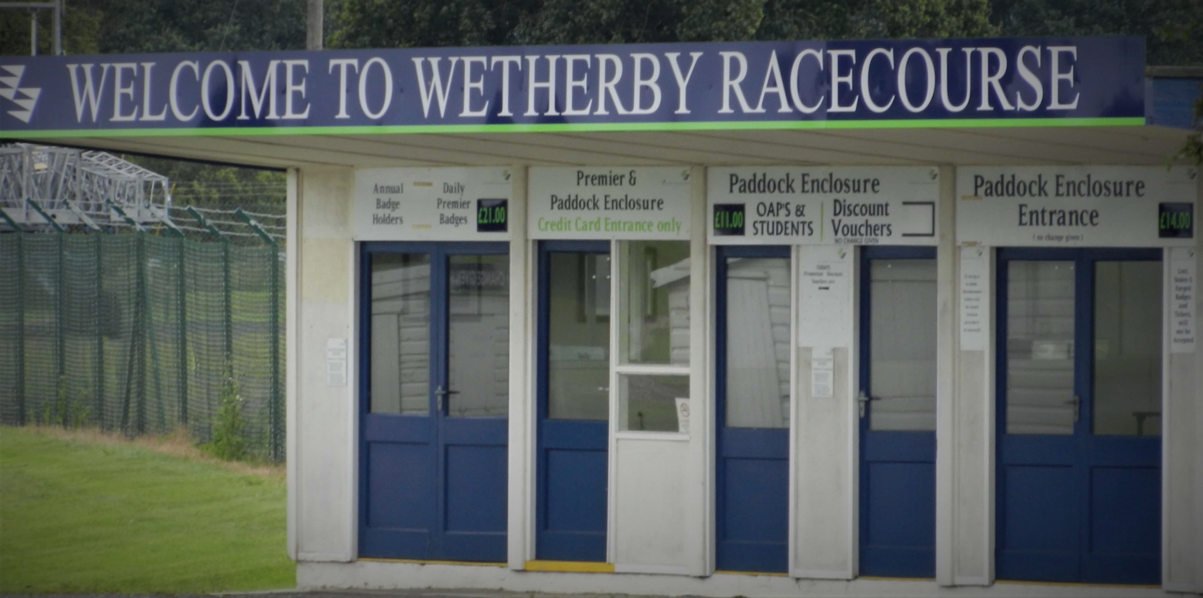 Entrance to Wetherby Racecourse