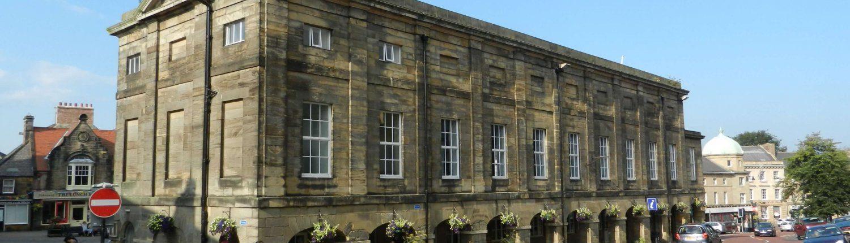 Alnwick period market building.