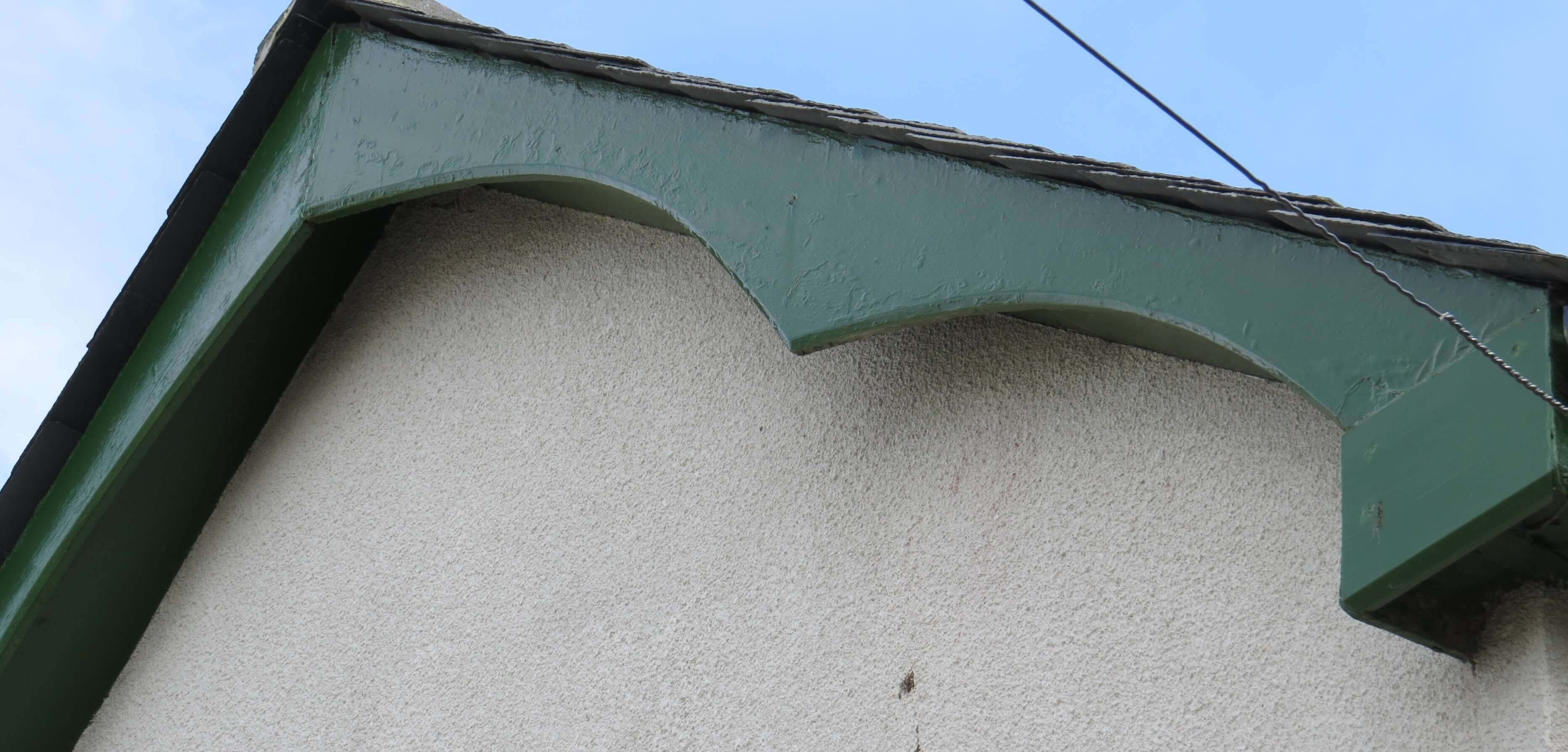 Gable end of property