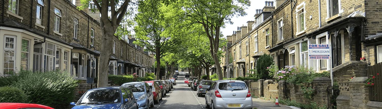 Terraced Residential Street in Shipley