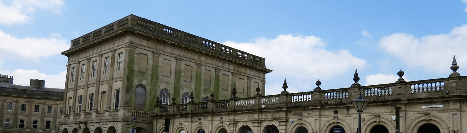 Buxton Baths period buildings in Derbyshire