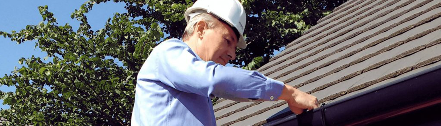 Chartered Surveyor during inspection