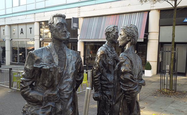 Quartet Sculpture at Chapel Bar, Nottingham