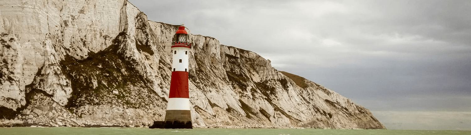 Lighthouse at Beachy Head near Eastbourne
