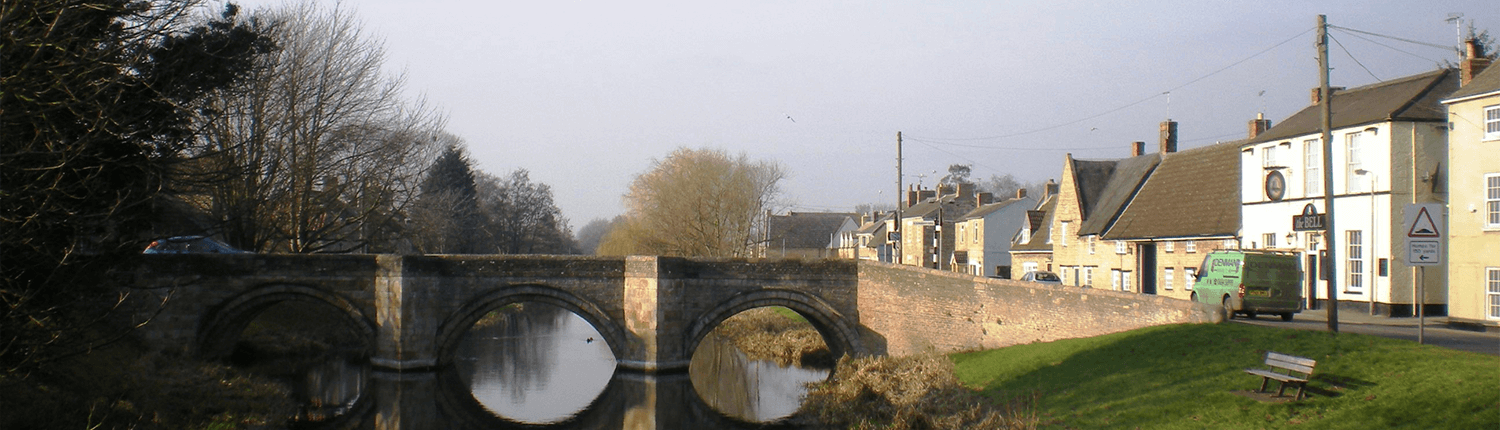 Deeping St James Bridge of River Welland