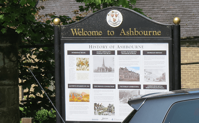 Asbourne Welcome Sign