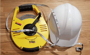 Surveyors Hard Hat and Measure