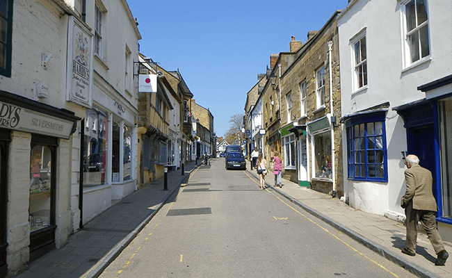 sherborne-shopping-street-commercial-and residential-buildings