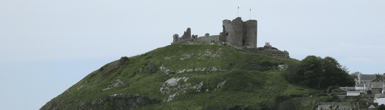 criccieth-castle-building