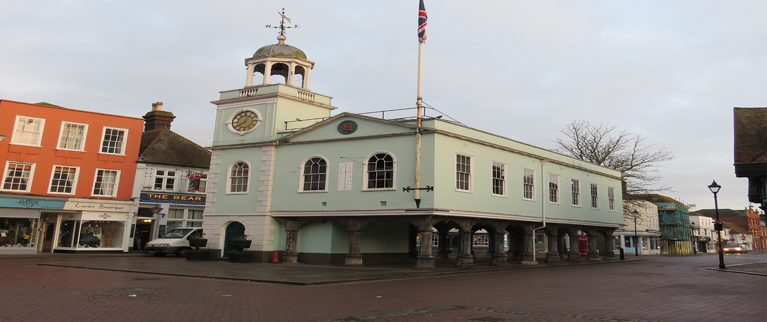 The Guildhall building in Faversham