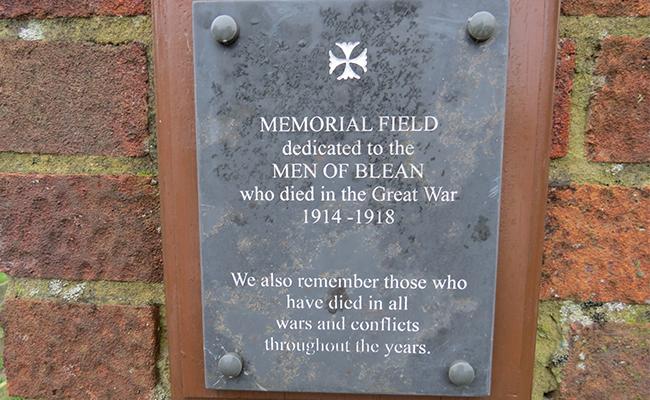 Blean Memorial Plaque